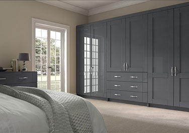 Arlington High Gloss Anthracite Bedroom Doors