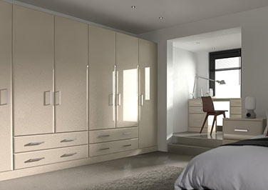Brighton High Gloss Cappuccino Bedroom Doors