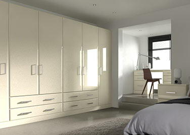 Brighton High Gloss Cream Bedroom Doors