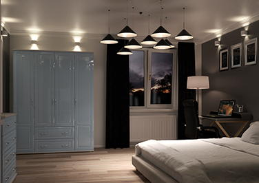 Chichester High Gloss Denim Blue Bedroom Doors