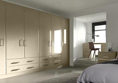 Durrington High Gloss Dakar Bedroom Doors