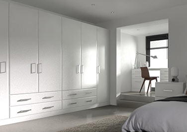 Durrington Silk White Bedroom Doors