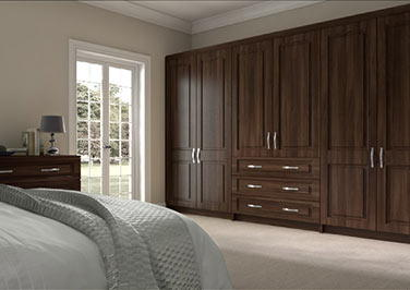 Goodwood Dark Walnut Bedroom Doors