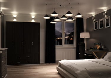 Hartfield Legno Jet Bedroom Doors