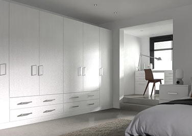 Lewes Avola White Bedroom Doors