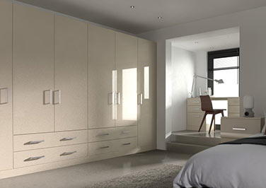 Lewes High Gloss Cappuccino Bedroom Doors