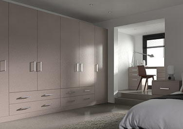 Lewes Legno Stone Grey Bedroom Doors