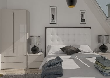 Petworth High Gloss Stone Grey Bedroom Doors