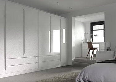Petworth High Gloss White Bedroom Doors