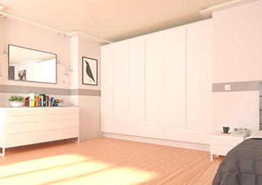 Petworth Legno Linen Bedroom Doors