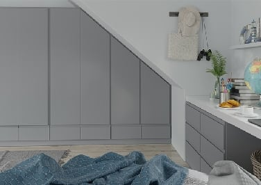Ringmer High Gloss Anthracite Bedroom Doors
