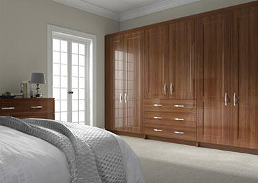 Singleton Medium Walnut Bedroom Doors