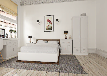 Singleton Super White Ash Bedroom Doors