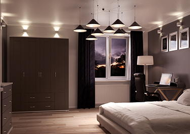 Washington Graphite Bedroom Doors