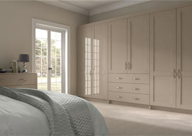 Washington High Gloss Cashmere Bedroom Doors