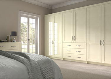 Washington High Gloss Cream Bedroom Doors