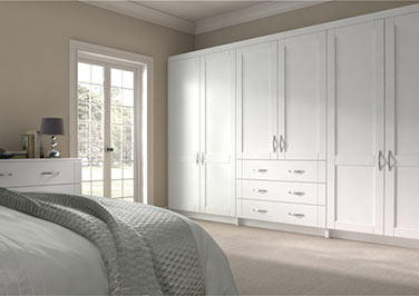 Washington Super White Ash Bedroom Doors