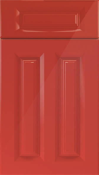 Amberley high gloss red kitchen doors from made to for Red high gloss kitchen doors