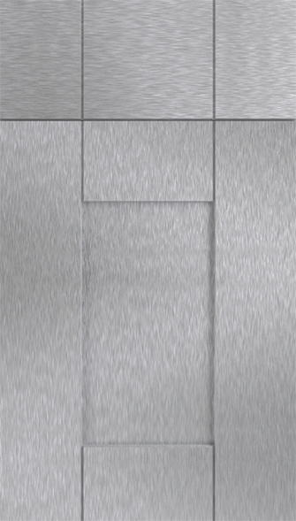 Arlington Brushed Steel Kitchen Doors