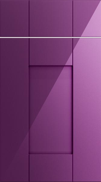 Arlington High Gloss Aubergine Kitchen Doors