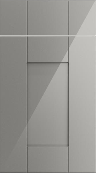 Arlington High Gloss Light Grey Kitchen Doors