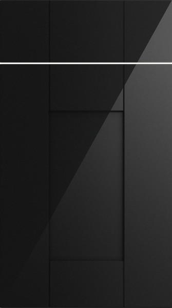 Arlington High Gloss Metallic Black Kitchen Doors