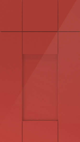 Arlington high gloss red kitchen doors from made to for Red high gloss kitchen doors