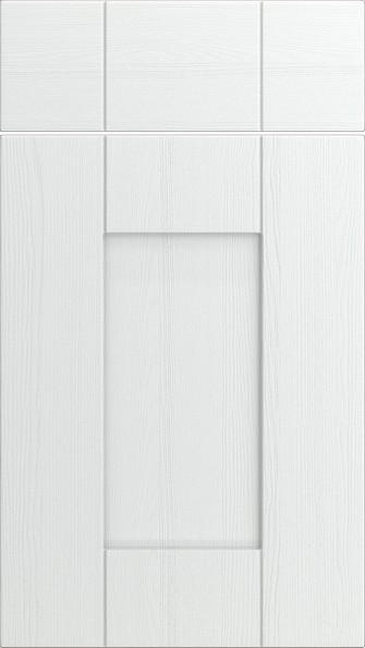 Arlington Super White Ash Kitchen Doors