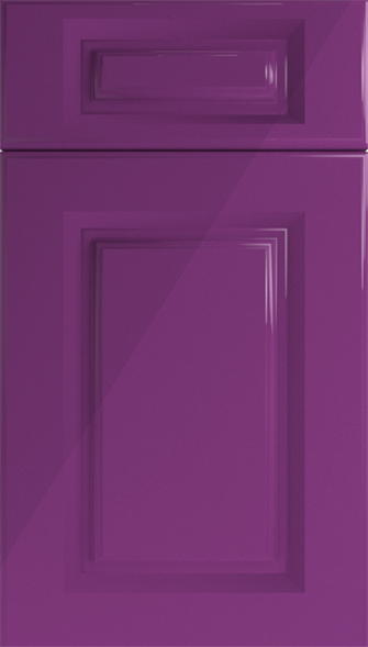 Buxted High Gloss Aubergine Kitchen Doors