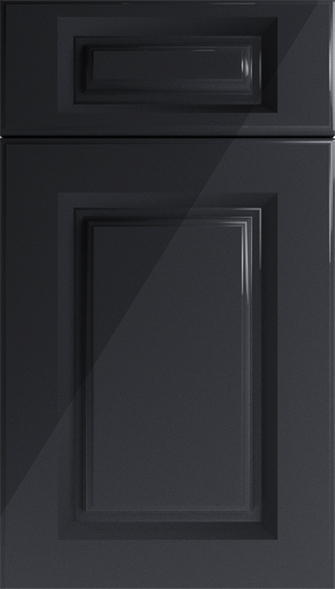 Buxted High Gloss Black Kitchen Doors