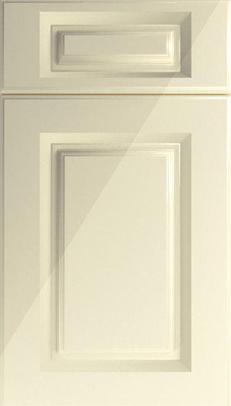 Buxted High Gloss Cream Kitchen Doors