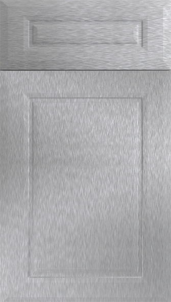 Chichester Brushed Steel Kitchen Doors