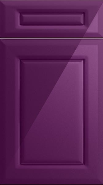 Chichester High Gloss Aubergine Kitchen Doors