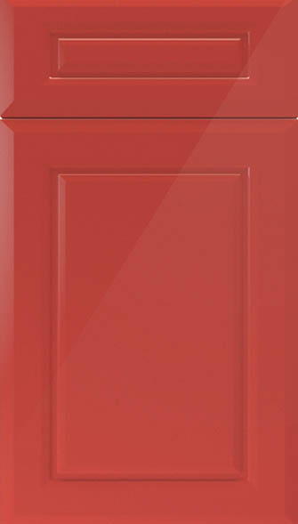 Chichester high gloss red kitchen doors from made to for Red high gloss kitchen doors