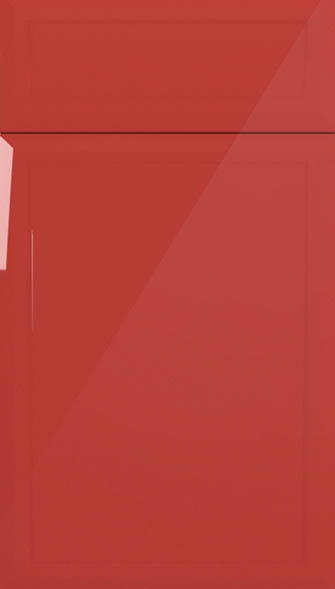 Durrington high gloss red kitchen doors from made to for Red high gloss kitchen doors
