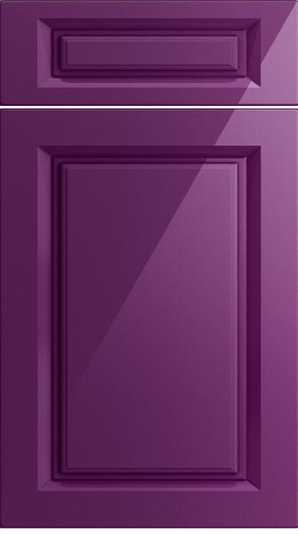 Fontwell High Gloss Aubergine Kitchen Doors From Made To Measure