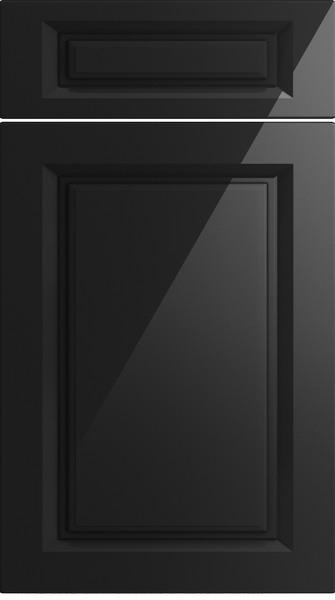 Fontwell High Gloss Black Kitchen Doors