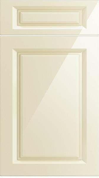 Fontwell High Gloss Cream Kitchen Doors From Made To Measure