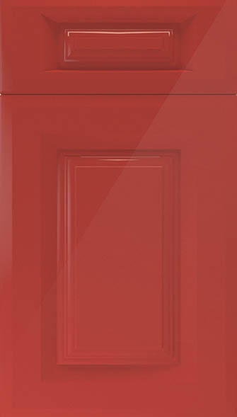 Fontwell High Gloss Red Kitchen Doors From Made To Measure