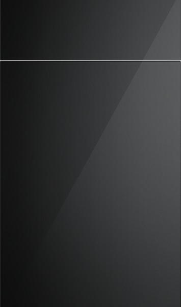 Lewes High Gloss Black Kitchen Doors