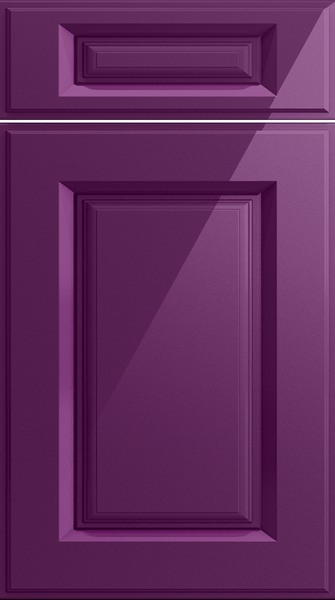 Midhurst High Gloss Aubergine Kitchen Doors