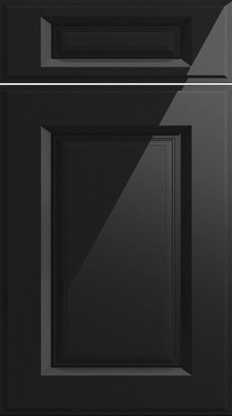 Midhurst High Gloss Metallic Black Kitchen Doors