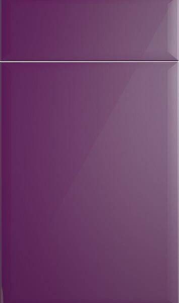 Newick High Gloss Aubergine Kitchen Doors