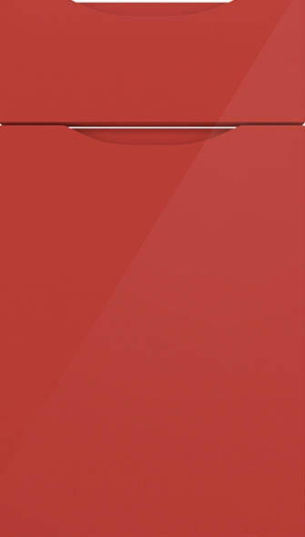 Petworth high gloss red kitchen doors from made to for Red high gloss kitchen doors