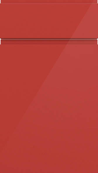 Ringmer high gloss red kitchen doors from made to for Red high gloss kitchen doors