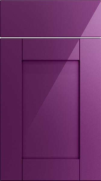 Washington High Gloss Aubergine Kitchen Doors
