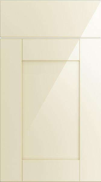 Washington High Gloss Cream Kitchen Doors From Made To Measure