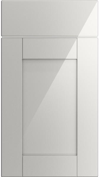 Washington High Gloss Light Grey Kitchen Doors