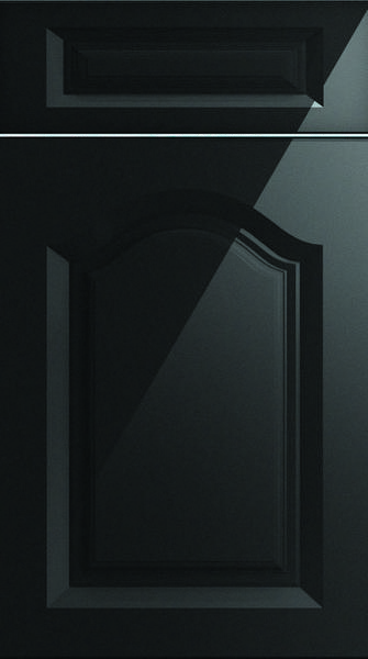 Westfield High Gloss Metallic Black Kitchen Doors
