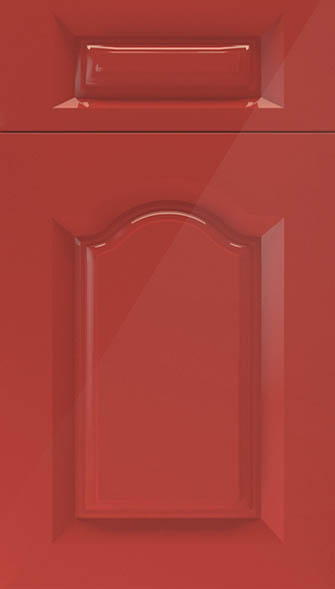 Westfield high gloss red kitchen doors from made to for Red high gloss kitchen doors